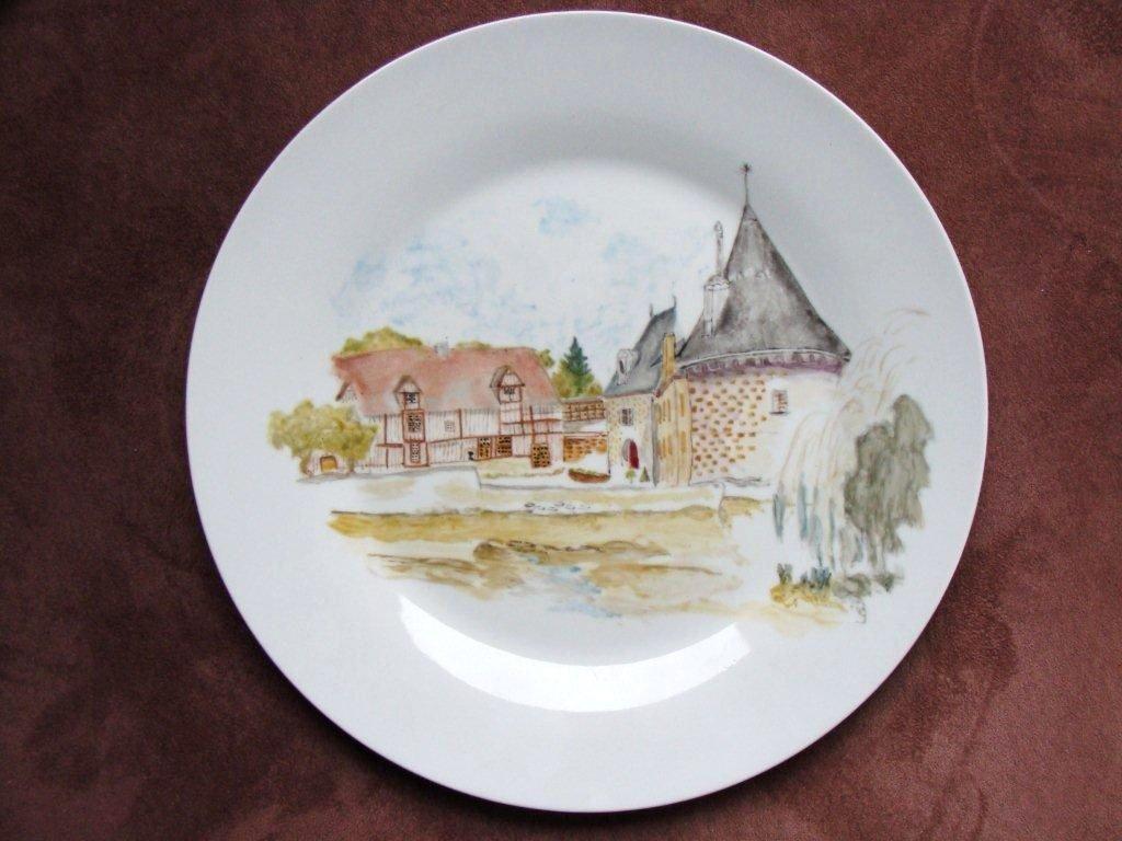 aquarelle sur porcelaine 183 dany et la peinture sur porcelaine